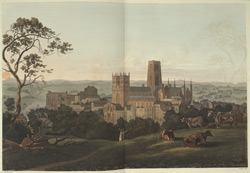 South West view of Durham Cathedral and Castle